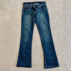 """Express jeans, bootcut, size 4R, 32"""" inseam"""